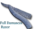 Full Damascus Razor Knife